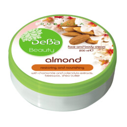 Face and Body Cream with Almond