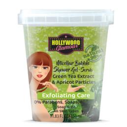 Мицеларно душ желе със зелен чай и кайсиеви ексфолиращи частици